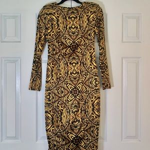 ASOS Long Sleeve Tribal Print Dress
